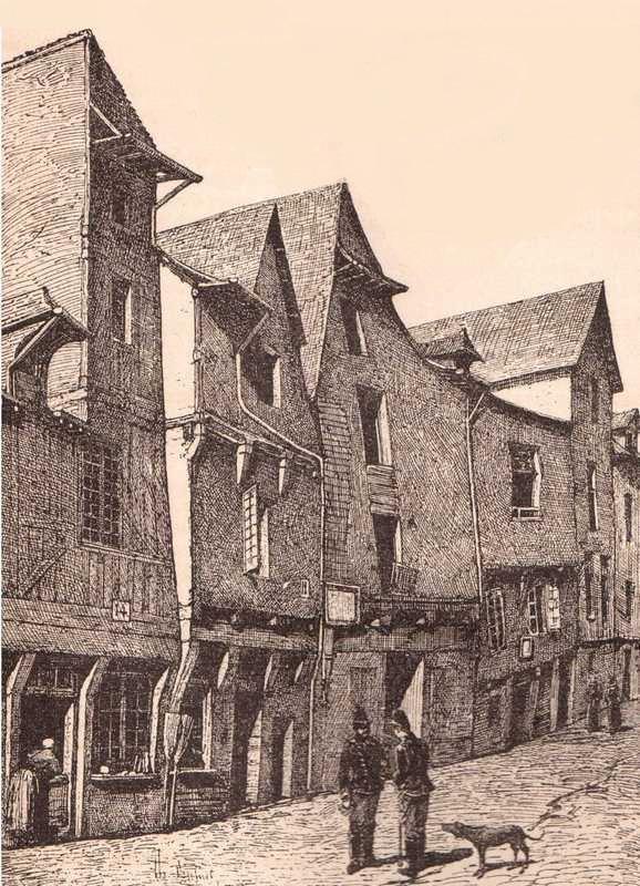 Vieilles maisons rue saint thomas il devait y avoir les memes rue saint helier de l autre cote du boulevard